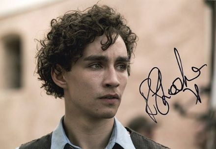 Robert Sheehan, signed 12x8 inch photo.